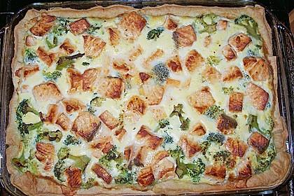 Brokkoli - Lachs Torte 15