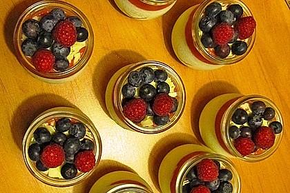 Joghurt-Frucht-Bömbchen im Glas