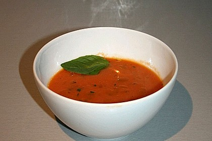 Low carb Tomaten-Basilikum-Suppe 4