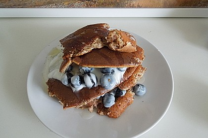 Blaubeer Pancakes aus Mandelmehl