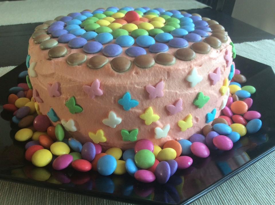 Bunte Regenbogen Schachbrett Torte 4