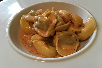 Pasta mit Garnelen-Sahne-Soße 5