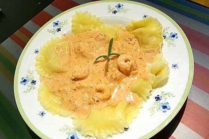Pasta mit Garnelen-Sahne-Soße 2