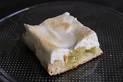Rhabarberkuchen mit Eischnee 1