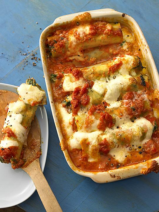 vegetarisch gef llte cannelloni rezept mit bild. Black Bedroom Furniture Sets. Home Design Ideas