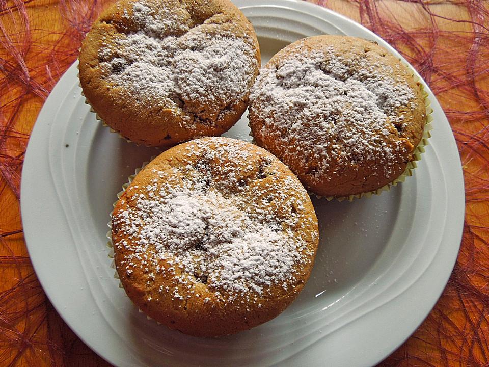 schoko bananen muffins rezept mit bild von christinax3. Black Bedroom Furniture Sets. Home Design Ideas