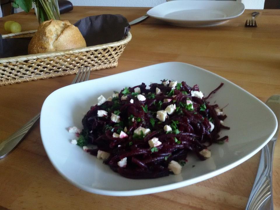 frischer rote bete salat f r die schnelle k che rezept mit bild. Black Bedroom Furniture Sets. Home Design Ideas