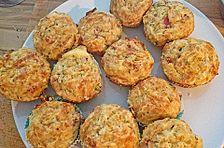 Kartoffel-Muffins mit Schinken