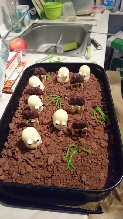 Halloween zombiegrab kuchen rezept mit bild von sophie - Party deko berlin ...