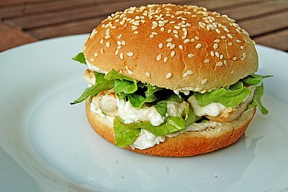 caesar s salad chicken burger von soskoechin. Black Bedroom Furniture Sets. Home Design Ideas