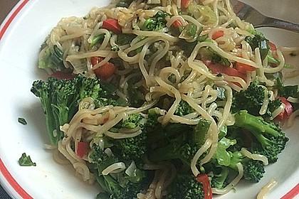 Asiatische Mie-Nudeln mit Gemüse, gebraten 11