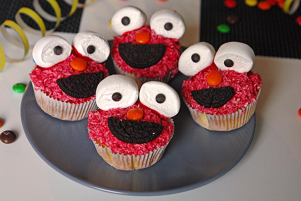 Elmo muffins von moosmutzel311 - Dekoration muffins ...