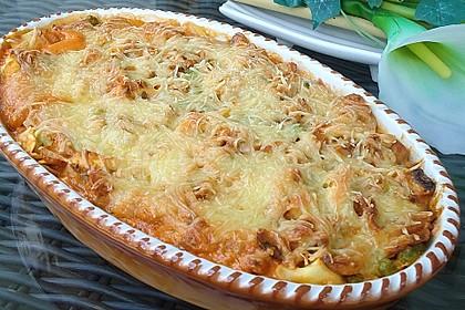 Überbackene Tortelloni in Tomaten-Champignon-Rahm 2