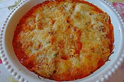 Überbackene Tortelloni in Tomaten-Champignon-Rahm 3