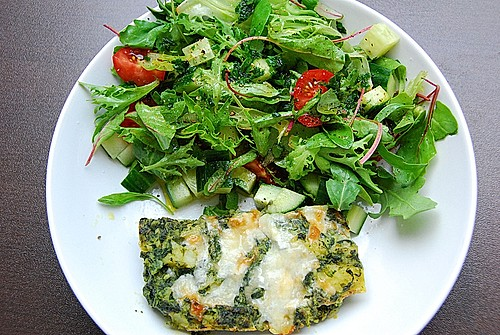 vegetarisches leichtes kartoffel spinat gratin rezept mit bild. Black Bedroom Furniture Sets. Home Design Ideas