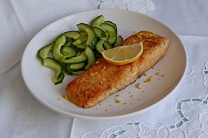 Gebratener Lachs mit Zitronenkruste 1