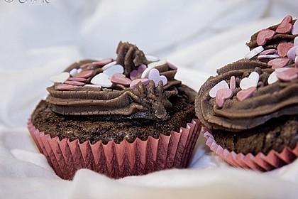 Nuss-Nougat-Cupcakes 3