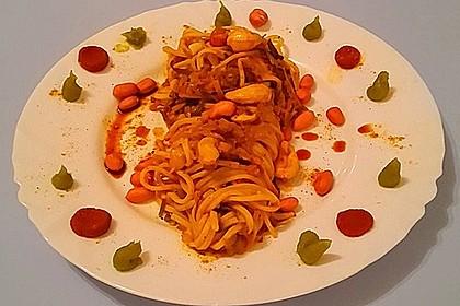 Pasta mit Gemüsejulienne und Erdnusssoße 7
