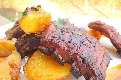 Köstliche BBQ Spareribs für Smoker und Backofen (inkl. Soße und Gewürzmischung) 20