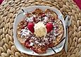 Süße Zwischenmahlzeit - Erdbeerpfannkuchen