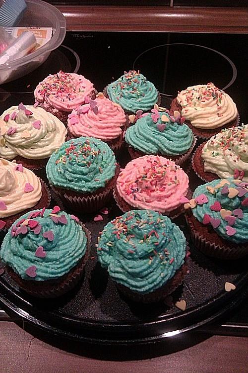 schokoladen cupcakes mit frischk se topping rezept mit bild. Black Bedroom Furniture Sets. Home Design Ideas