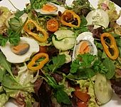 Einfacher, gemischter Salat mit Ei