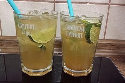 Alkoholfreier Cocktail mit Kräuterlimonade 3