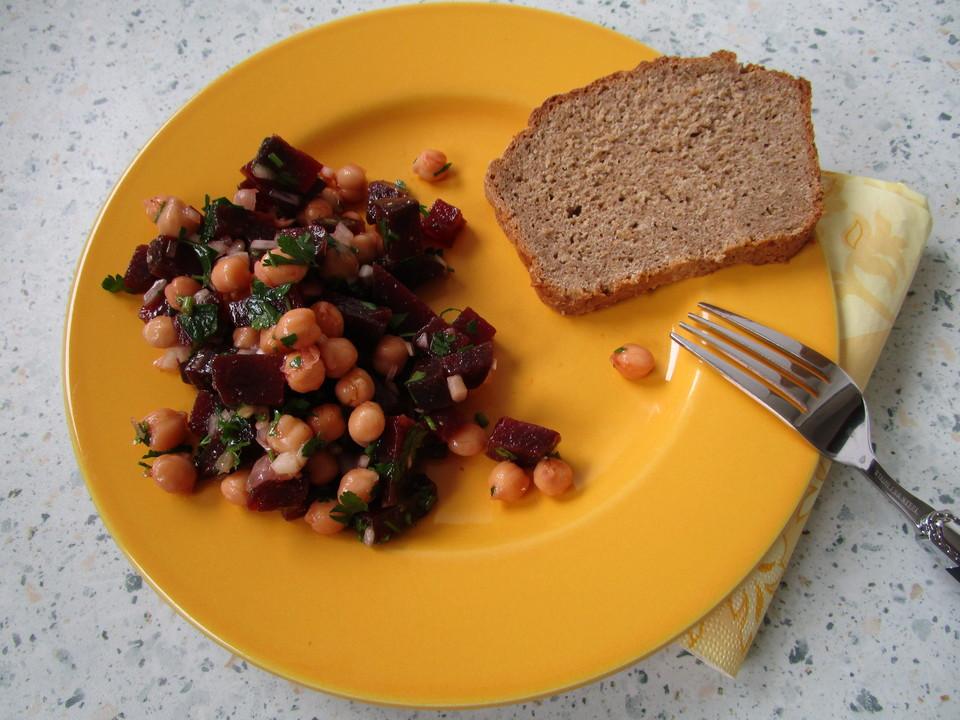 rote bete salat mit kichererbsen rezept mit bild. Black Bedroom Furniture Sets. Home Design Ideas
