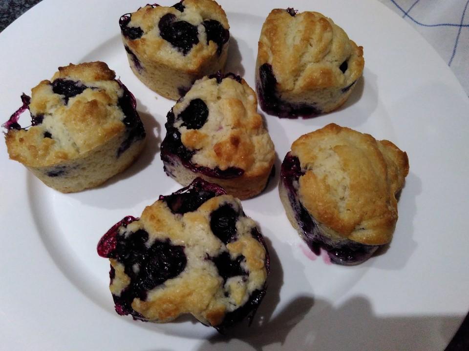 vanillejoghurt heidelbeer muffins rezept mit bild. Black Bedroom Furniture Sets. Home Design Ideas