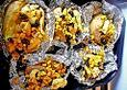 Gefüllte Backkartoffeln mit Hähnchen und Mais