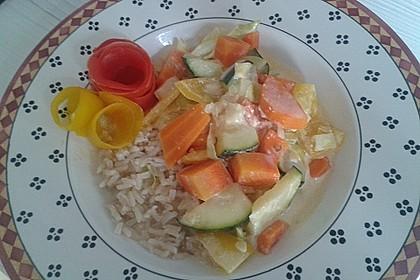 Wokgemüse mit Spitzkohl, Paprika und Möhren 1