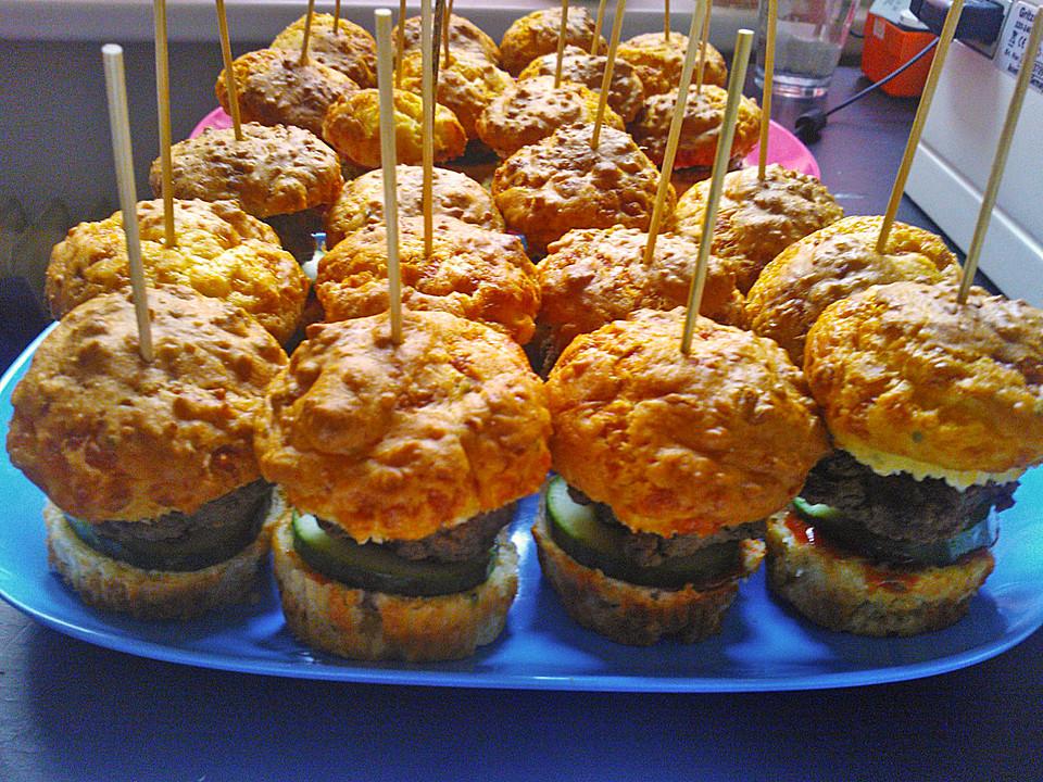 mini burger muffins rezept mit bild von puntynrw. Black Bedroom Furniture Sets. Home Design Ideas