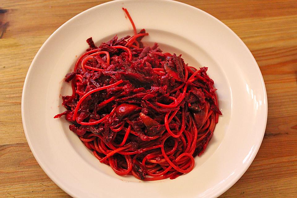 rote bete spaghetti rezept mit bild von kamikaze. Black Bedroom Furniture Sets. Home Design Ideas