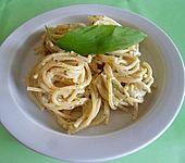 Marys Bärlauch-Spezialsoße mit Spaghetti
