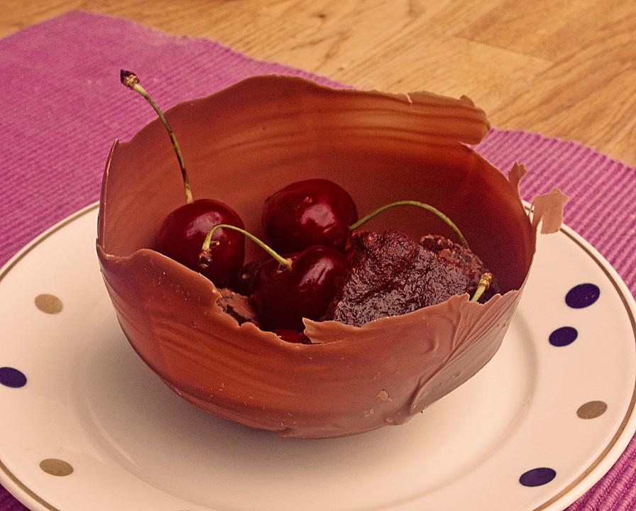 dessert schale aus schokolade rezept mit bild von julchenkl. Black Bedroom Furniture Sets. Home Design Ideas