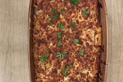 Cremiger Nudelauflauf mit Tomaten und Mozzarella 128