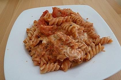 Cremiger Nudelauflauf mit Tomaten und Mozzarella 56