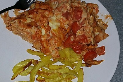 Cremiger Nudelauflauf mit Tomaten und Mozzarella 108