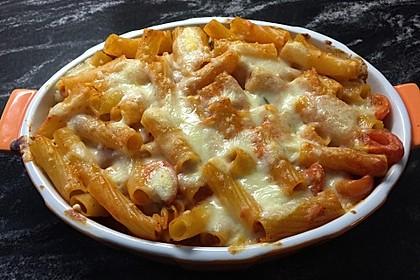 Cremiger Nudelauflauf mit Tomaten und Mozzarella 88