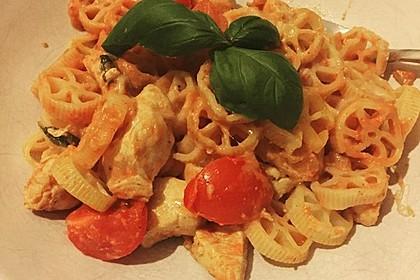 Cremiger Nudelauflauf mit Tomaten und Mozzarella 122