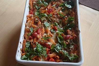 Cremiger Nudelauflauf mit Tomaten und Mozzarella 124