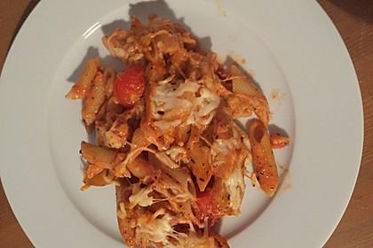 Cremiger Nudelauflauf mit Tomaten und Mozzarella 142