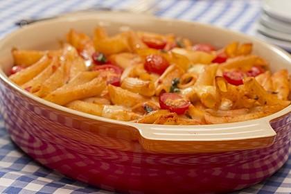 Cremiger Nudelauflauf mit Tomaten und Mozzarella 6