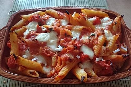 Cremiger Nudelauflauf mit Tomaten und Mozzarella 34