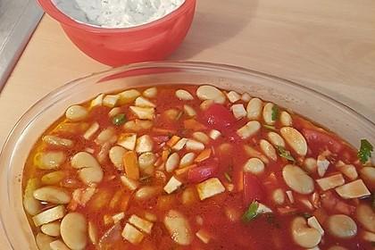 Griechische dicke weiße Bohnen in Tomatensoße 7