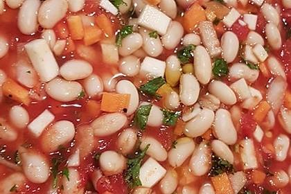 Griechische dicke weiße Bohnen in Tomatensoße 5