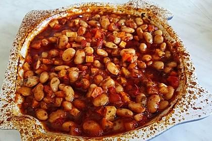 Griechische dicke weiße Bohnen in Tomatensoße 6
