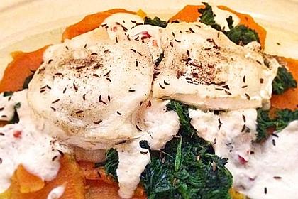 Spinat-Süßkartoffel-Auflauf mit Ziegenkäse 12