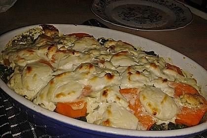 Spinat-Süßkartoffel-Auflauf mit Ziegenkäse 27