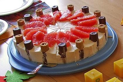 Leichte Grapefruit-Torte mit Waffeletten